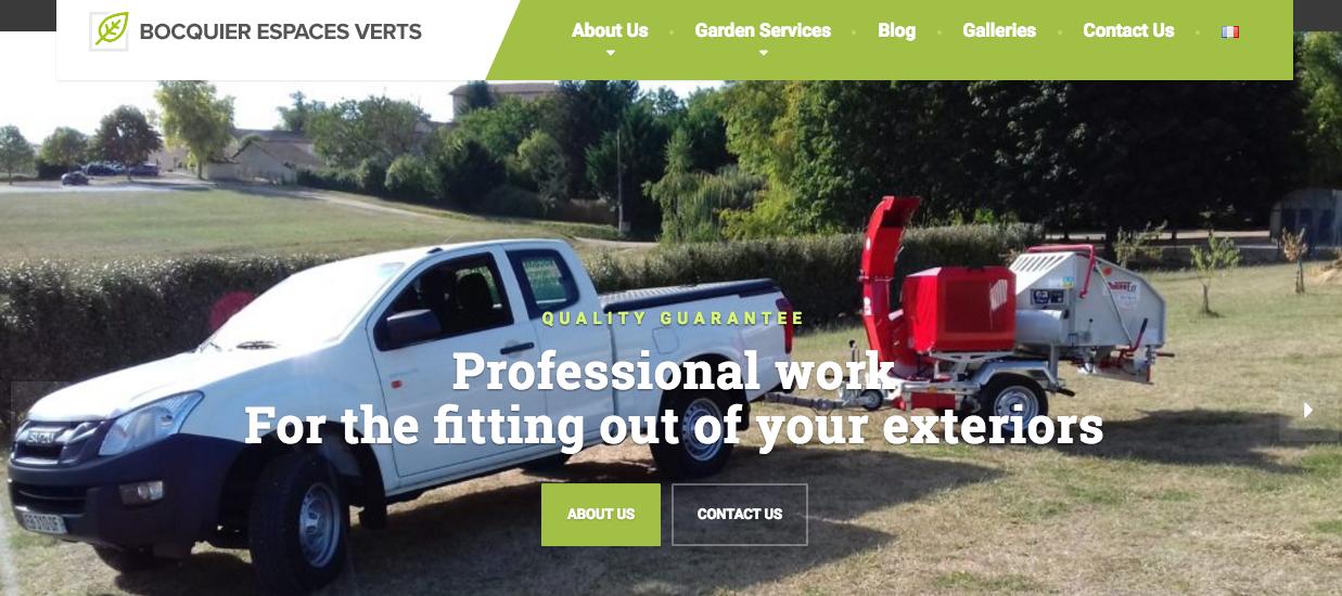 Bocquier Espace Verts launch new website
